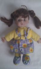 Adorable My 1st Baby Girl Flower Dress Soft Body Doll